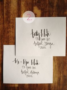 Calligraphy Envelopes by indianpaper on Etsy, $1.00