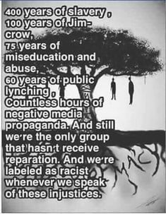 400 years of slavery in a country thats only 243 years old! See how far a lie can go unchecked. Black History Facts, Black History Month, By Any Means Necessary, We Are The World, Before Us, African American History, Black Power, Fight Club, Black People