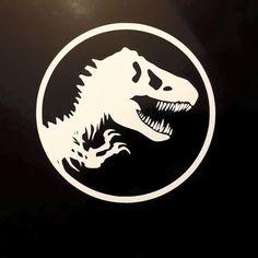 Cut and applied first Jurassic Park sticker! #Jurassic park #Jurassicworld