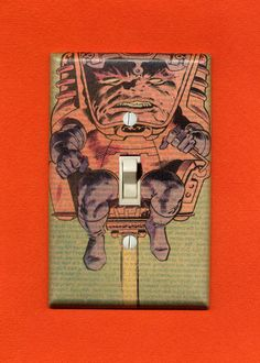 Quite possibly the freakiest light switch plate I've made...