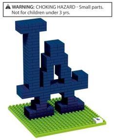 AU - Walmart BRXLZ Forever Collectibles Los Angeles Dodgers Brxlz 3D Logo Puzzle - Blue