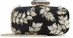 Black & Gold Floral Embroidered Satin Goa Clutch | #Chic Only #Glamour Always