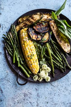 Caramelized Farmers Market Veggies On Herbed Polenta with Brown Harissa Butter