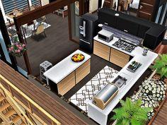 sim house design workshop: Sims Freeplay Island Villa ----- 浪漫海岛度假屋 Sims 3 Houses Plans, Sims 4 Houses Layout, House Layouts, House Plans, Casas The Sims Freeplay, Sims Freeplay Houses, Sims 4 Modern House, Sims 4 House Design, Sims Free Play