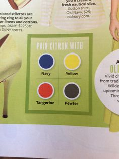 InStyle/The Color Issue: Citron