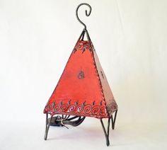 Moroccan Henna Lamp - Pyramid Style (Red) by World Travel Art, http://www.amazon.com/dp/B009G217SC/ref=cm_sw_r_pi_dp_q37prb00TK109