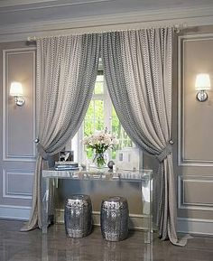 """Curtain sets - page Set of curtains """"Kiopi"""" eggplant Classy Living Room, New Living Room, Home And Living, Living Room Decor, Home Curtains, Curtains With Blinds, Long Window Curtains, Curtain Styles, Curtain Designs"""