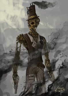 """steampunktendencies: """" Sulfur by ArtFlooded """" Zumbi steampunk Robots Steampunk, Chat Steampunk, Steampunk Drawing, Steampunk Kunst, Steampunk Artwork, Steampunk Characters, Dnd Characters, Character Design Girl, Character Design Animation"""