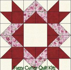 Scrappy Fabric Diamond Star Easy Pre-Cut Patchwork Quilt Blocks Top Kit