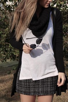 black white tweed look do dia lele gianetti 4
