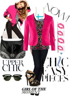 """""""Chic black & pink"""" by aharsha on Polyvore"""