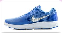 Over 70% Discount Off Popular 2017 Fashion glitter kicks Nike Revolution 3 - Crystallized Swarovski Rhinestone Swoosh Blue White
