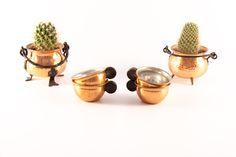 Scandinavian copper coffee cups set /  copper tea cups set / Swedish copper cup set / copper espresso cup set / copper demitasse cups by VintageEuropeDesign on Etsy