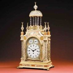 A George III cream lacquer, ormolu and cut glass mounted musical bracket clock for the Turkish market, circa 1790 Price realisedGBP 8,225