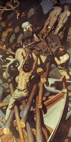 The Athenaeum - The Capture of the Sampo (Akseli Gallen-Kallela - ) Tilting At Windmills, Nordic Design, Painting & Drawing, Cool Art, Nice Art, Oil On Canvas, Food, Paintings, A4 Poster
