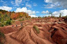 Autumn Colors in the Cheltenham Badlands Cheltenham Badlands, Ontario, Places To Go, Canada, Autumn, York, Vacation, Colors, Travel