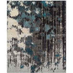 "Dalyn Neo Grey Crusade Teal 3'3"" x 5'3"" Area Rug ($89) ❤ liked on Polyvore featuring home, rugs, backgrounds, home decor, teal rugs, dalyn rugs, teal blue rug, grey rugs and gray rug"