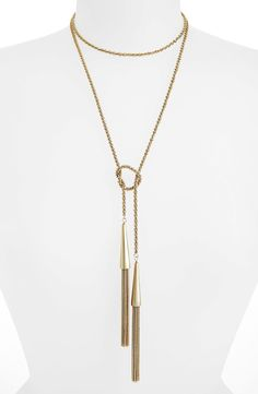 Kendra Scott 'Phara' Tassel Lariat Necklace | Nordstrom