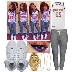 A fashion look from April 2014 featuring H&M activewear pants, adidas and NIKE sneakers. Browse and shop related looks.