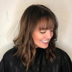 30 Sexiest Wispy Bangs You Need to Try in 2019 - Style My Hairs Full Bangs Hairstyle, Haircuts For Wavy Hair, Fringe Hairstyles, Hairstyles With Bangs, Long Haircuts, Short Hair Long Bangs, Bangs With Medium Hair, Wispy Bangs, Fringe Bangs