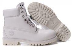 #White #Timberland #Boots