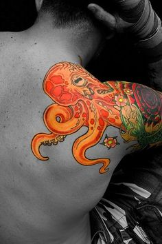 """an octopus symbolizes complexity, diversity, mystery, vision, intelligence, illusion, variability and insight. in symbolic terms, this has a deeper meaning. it pertains to our inner self. """
