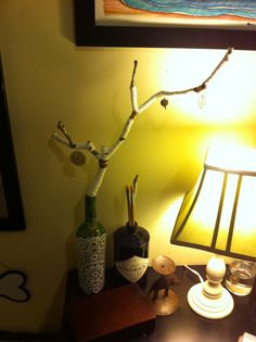 So easy! Desk Lamp, Table Lamp, Branches, Homemade, Lighting, Easy, Home Decor, Homemade Home Decor, Home Made
