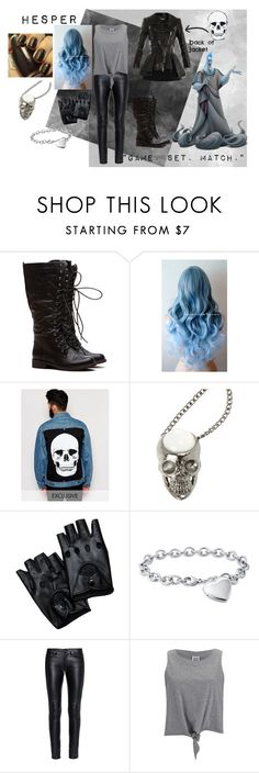 """""""Hesper, Daughter of Hades"""" by paisely099 ❤ liked on Polyvore featuring Reclaimed Vintage, Blue Nile, Yves Saint Laurent, Vero Moda, Alexander McQueen, Hades and disneydescendants"""