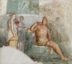 The nymph Galatea and the cyclops Polyphemus, Roman fresco from Portici, 1st century AD, (Museo Archeologico Nazionale, Naples).