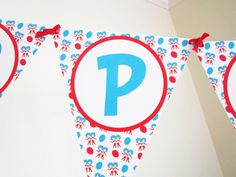 Thing 1 and 2 Themed Banner. $21.00, via Etsy.