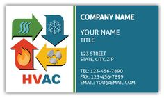 Ac heating cooling business card air conditioning companies heating and cooling business card reheart Image collections