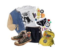 """""""I'm Back Bitches"""" by peachyndpink ❤ liked on Polyvore featuring moda, Floyd, Chapstick, sOUP, Manic Panic, B. Ella, Retrò, McGuire, Converse e women's clothing"""