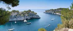 Entrance of Port-Miou Calanque in South of France