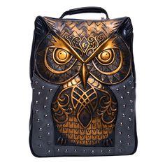 3D Owl Rivets PU Leather Shoulder Bag Cool  Backbag Ladies Messenger Hobo Bag    eBay