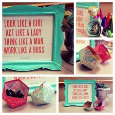 Probably would get made fun of for having this quote on my desk so I pinned it instead <3 Go girls!