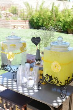 Get some fresh squeezed lemonade!  See more party ideas at CatchMyParty.com!