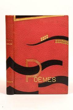 MORAND (Paul)  Poèmes (1914-1924). Paris, Au Sans pareil, 1924.   Reliure de Pierre Legrain