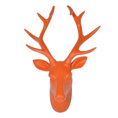 Orange Deer Head Wall Hanger available online at Barker & Stonehouse. Browse our fabulous range today!