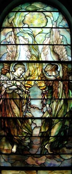 First Presbyterian Church, Lockport 21 Church Street, Lockport. NY 14094 Two angels carrying torches. Tiffany studios