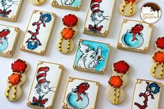 Dr Seuss Cookies Texas, Sugar, Cookies, Desserts, Food, Crack Crackers, Tailgate Desserts, Deserts, Biscuits