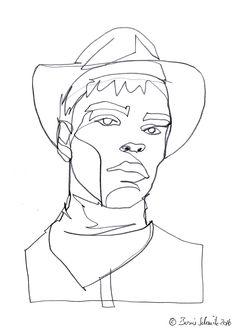 """Gaze 507″, continuous line drawing by Boris Schmitz"