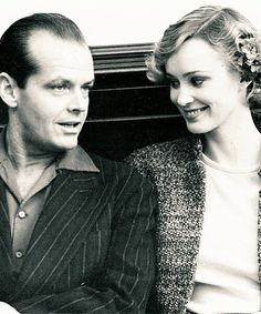 "Jack Nicholson y Jessica Lange en el set de ""The Postman Always Rings Twice"" (Bob Rafelson, 1981)."