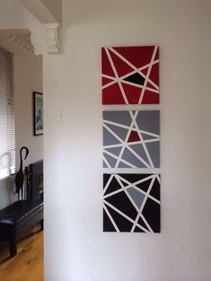 Canvas art. Take two - masking tape and acrylic paint.