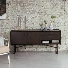 Sideboard Buffet Aus Teak 160 Cm Breite Kaffeefarben