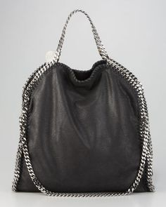 Stella McCartney Fold-Over Falabella, Black - Neiman Marcus (yes, i am in a handbag mood right now)