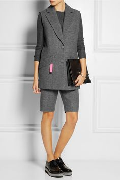 Alexander Wang | Wool-blend shorts and vest