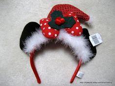 Disneyland Mickey Mouse Minnie Mouse Christmas Ears Headband Hat | eBay