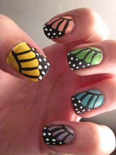 unhas decoradas com borboletas 1