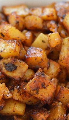 """My Favorite Roasted Potatoes"": Crispy on the outside & creamy inside. Easy to throw together & bake!!"