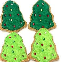 Felt Christmas Tree Cookies Wonderful play food